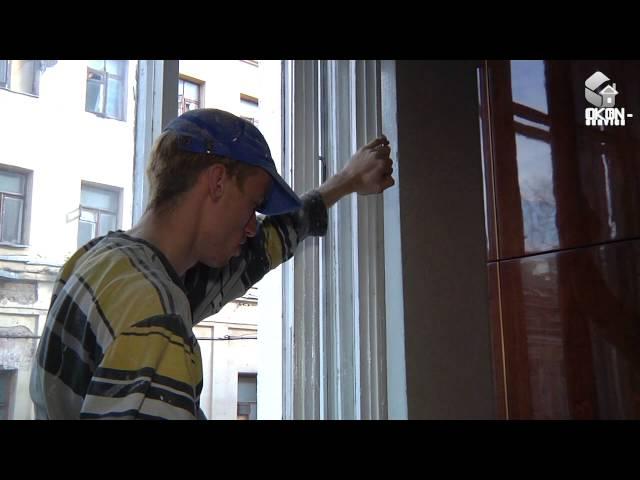Как заделать щели вокнах