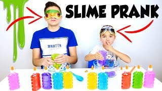 BLINDFOLDED SLIME PRANK CHALLENGE - Swan Triche !!!
