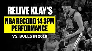 Klay Thompson Sets NBA Record With 14 3PM Against Bulls | 2018 Game Rewind by Bleacher Report