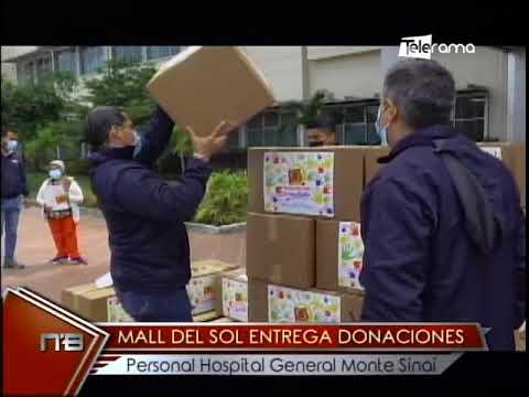 Mall del Sol entrega donaciones personal hospital general Monte Sinaí