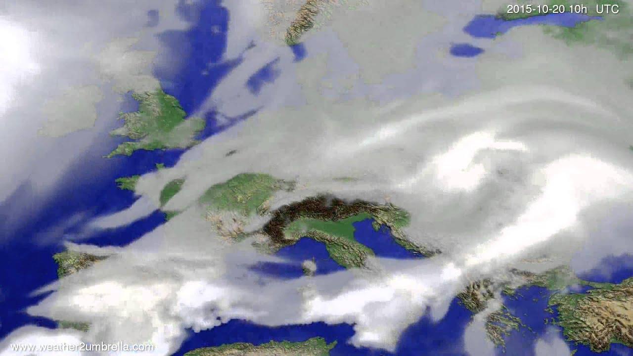 Cloud forecast Europe 2015-10-18