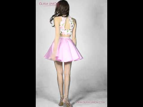 Two Piece Halter Short Prom Dress 2016 | Glam Union