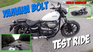7. Yamaha Bolt test ride