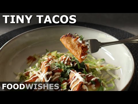 Tiny Tacos! Easy Bite-Sized Crispy Tacos – Food Wishes