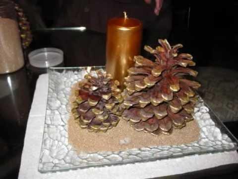 Manualidad navide a centro de mesa facil wmv - Youtube centros de mesa navidenos ...