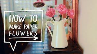 Flowers Out of Paper & Pencils | How to Make Flowers | DIY Room Decor (Decora Tu Cuarto) - YouTube