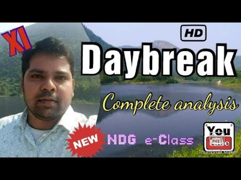 Daybreak poem by Henry Wadsworth Longfellow In Depth Poem Analysis Bengali Class 11