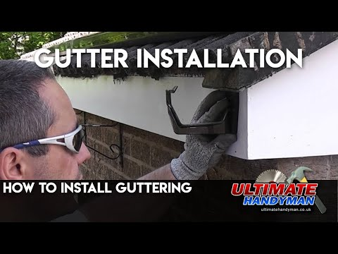 how to fit plastic guttering