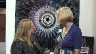 Festival of Quilts 2012 - Birmingham UK - Kate Findlay's Hadron Collider Quilts
