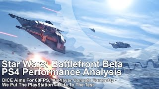 Here's how Star Wars Battlefront performs on PS4