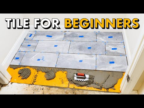 Installing TILE FLOOR for the FIRST TIME 🛠 How To Lay Tile Floor