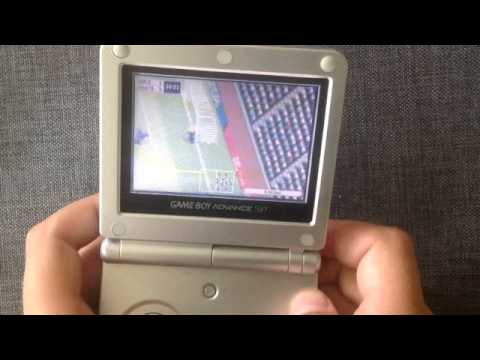 Retro Gaming System Game Boy Advance SP Fifa Soccer 2003 Gameplay