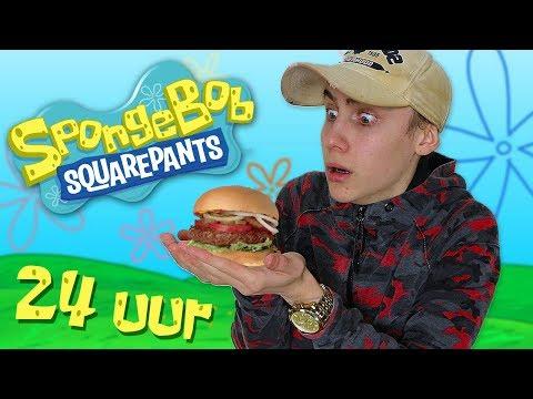 ik eet alleen SPONGEBOB VOEDSEL voor 24 UUR!!