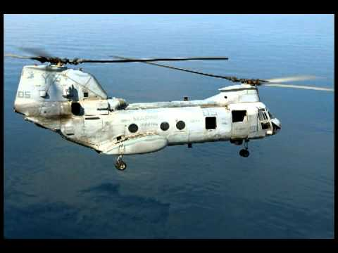 Sound of Sea Knight helicopter,...