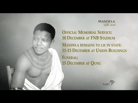 A tribute to Nelson Rolihlahla Mandela : SABC TV live coverage.