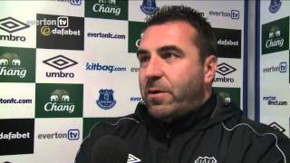 Match action from Everton Under-21s' Premier League International Cup fixture against Schalke, plus reaction from David Unsworth and Tom Cleverley.