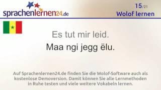 https://www.sprachenlernen24.de/wolof-lernen/ In diesem Video lernen Sie die wichtigsten Wolof-Vokabeln. Wenn Sie dieses Video jeweils an 5 verschiedenen ...