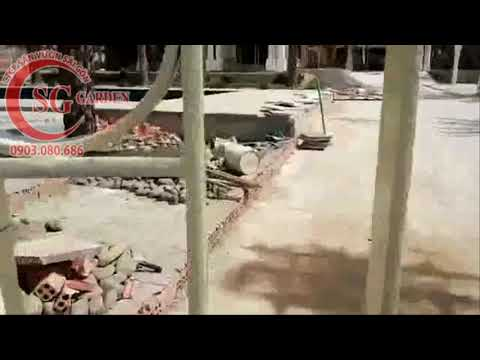 Video thi công tường rào Châu Âu 2