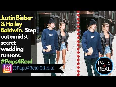 Paps4Real - Justin Bieber and Hailey Baldwin step out amidst secret wedding rumors.