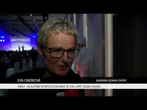 TV Brno 1: 8.12.2017 Nejlepším sportovcem Brna se opět stal Adam Ondra