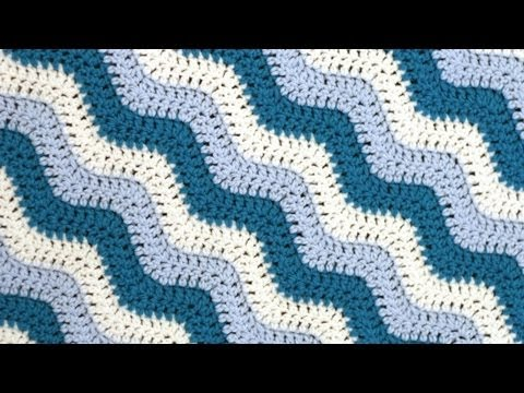 Crochet for Knitters - Rugged Ripples Blanket