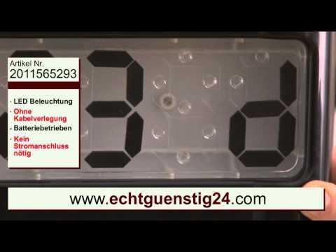 Hausnummernschild mit Solartechnik