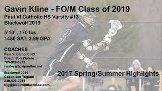 Gavin Kline, Class of 2019 FO/M for Paul VI Catholic HS and Blackwolf 2019. Spring and Summer 2017 highlights of Gavin's...