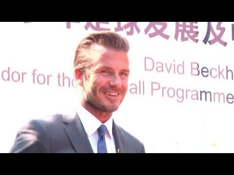 david beckham - David Beckham attends a presentation in Soong Ching Ling in China and reveals what he is trying to achieve in his ambassadorial role. Splash is the leading i...