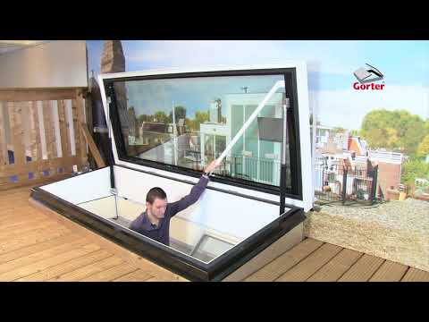 Gorter roof hatches: RHTG Roof hatch glazed