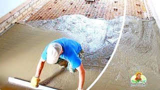 Как сделать бетонный пол в гараже
