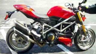 10. Ducati Streetfighter S Engine Rev - Termi Pipes!