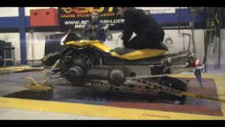 8. Chassis Dyno Testing 2008 Ski doo REV XP 800 R with Rear Axle Drive Technology 108 hp to the ground