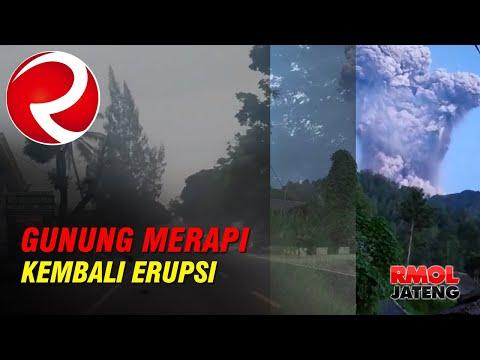 Detik-Detik Merapi Kembali Erupsi | Gunung Merapi