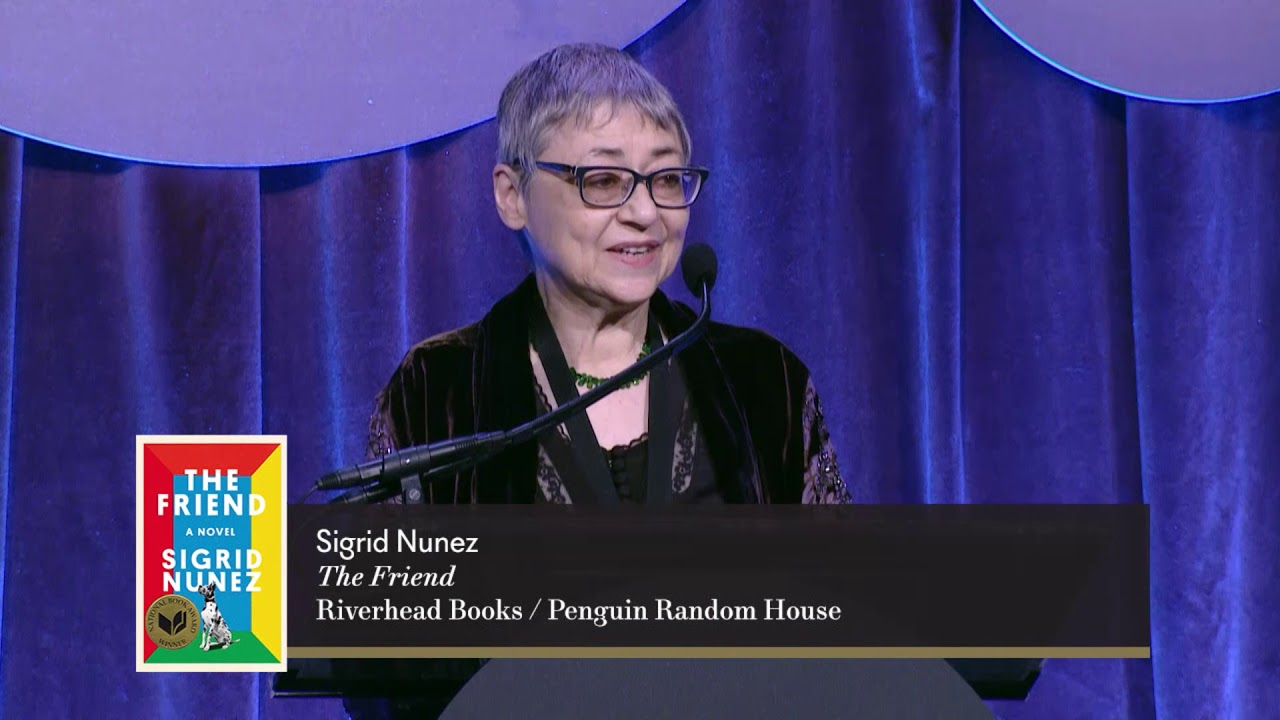 Sigrid Nunez at 2018 National Book Award for Fiction