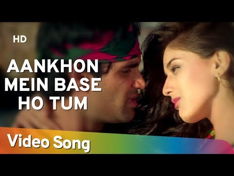 Video Aankhon Mein Base Ho Tum (Duet) - Sunil Shetty - Sonali Bendre - Takkar - Bollywood Songs - Abhijeet download in MP3, 3GP, MP4, WEBM, AVI, FLV January 2017