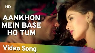 Video Aankhon Mein Base Ho Tum (Duet) - Sunil Shetty - Sonali Bendre - Takkar - Bollywood Songs - Abhijeet MP3, 3GP, MP4, WEBM, AVI, FLV Juli 2018