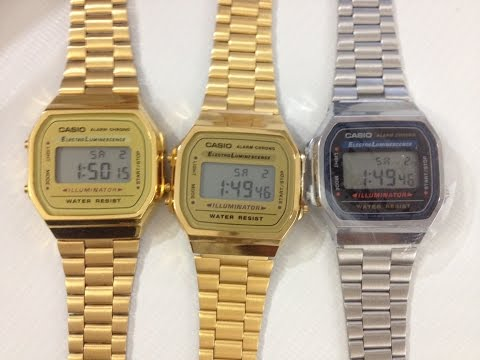Casio Gold Watch A168WG-9 -  REAL vs FAKE
