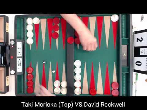 Taki Morioka VS David Rockwell   Chicago Backgammon 2016 Main Open