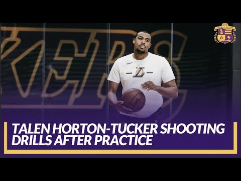 Video: Lakers Practice: Rookie Draft Pick Talen Horton-Tucker Getting Shots Up After Practice