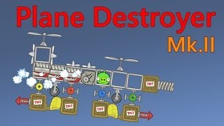 """Many people request this plane (or more likely Helicopter). Then I named this """"Plane Destroyer Mk.II""""Well... This is the second version of Plane Destroyer. More weapons and more crazies :pPrevious version : http://youtu.be/QWGqb_XNwDkThanks to the Rovio, this Plane Destroyer Mk.II that I submitted to Bad Piggies' Tumblr has been approved :D http://badpiggies.tumblr.com/post/79266969276/plane-destroyer-mk-iiTEST 1 : Misile Shoot TestTEST 2 : Spring Shoot Test/Gun TestTEST 3 : Bomb Drop Test and Still TargetTEST 4 : Bomb Drop Test and Running TargetThe Plane is different in each test :Type 1A : Have 2 missiles, 2 bombs at once, but no gunType 1B : Have 2 missiles, 2 bombs at once, 1 gunType 2A : Have 2 missiles, 2 bombs, but no gunType 2B : Have 2 missiles, 2 bombs, 1 gunWell, feel free to add more types, maybe more engines or more bigger? As it not really different :pCREDITS :Locally Sourced - Jason FarnhamI'm sorry if there was a comments/requests on the intro is not match with the requested video. I hope you enjoy this video! :DAlso, comment this video if you have another requestDon't forget to like and subscribe for more incoming GREAT videos!!!The next ePIGsodes.... May be uploaded after L4D2 video.... Well... You can read my blog for the future updates, and make sure you like ePIGsodes on the Facebook!Blog : http://smankusors.blogspot.comFacebook : http://fb.me/ePIGsodes"""