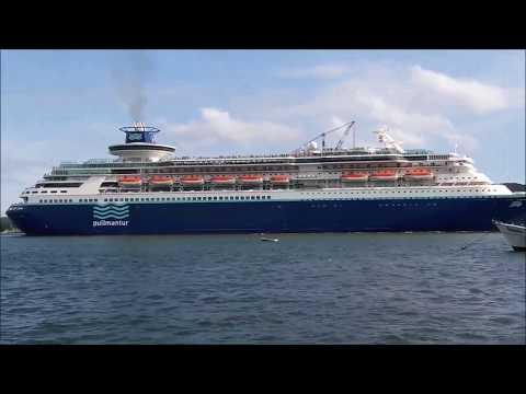 Imagens de calor - Saída do Navio MS Sovereign Porto de Santos