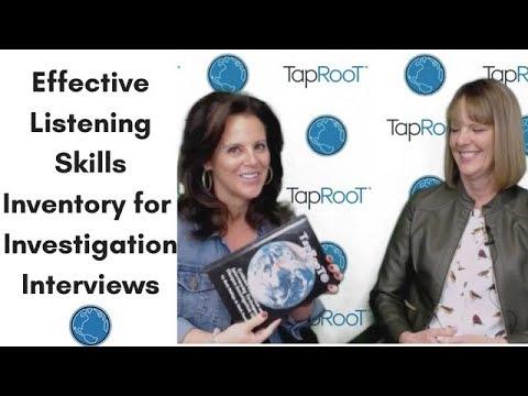 Effective Listening Skills Inventory For Investigation Interviews
