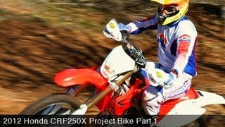 1. MotoUSA Project Bike:  2012 Honda CRF250X Part 1