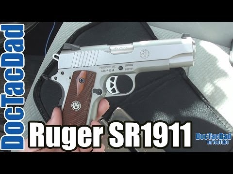 ruger - Shooting and Reviewing the SR1911 Commander Ruger SR1911 Commander Capacity: 7+1 Grip Frame: Low-Glare Stainless Slide Material: Stainless Steel Slide Finish...