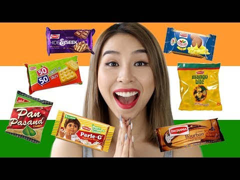 Australian Tries Indian Snacks! Tina Tries It (видео)