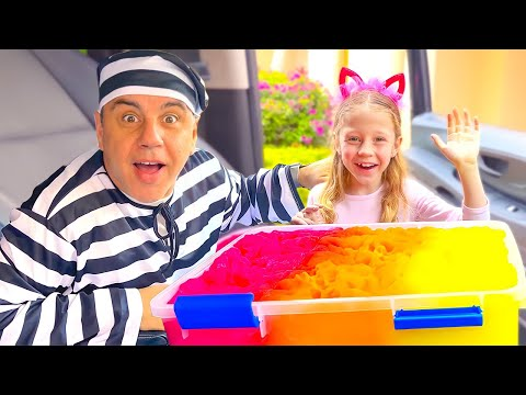 Nastya and a policeman learns the safety rules for children. Useful video for children
