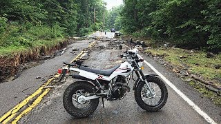 10. Checking Out Flood Damaged Road on Yamaha TW200 -Aug.13th, 2018