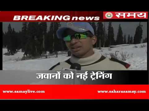 Soldiers in Gulmarg training for avalanche rescue