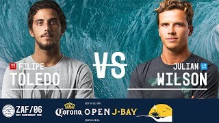 Filipe Toledo faces off against Julian Wilson in Heat 2 of the Semifinals at the 2017 Corona Open J-Bay. #WSL #jbay Subscribe to...