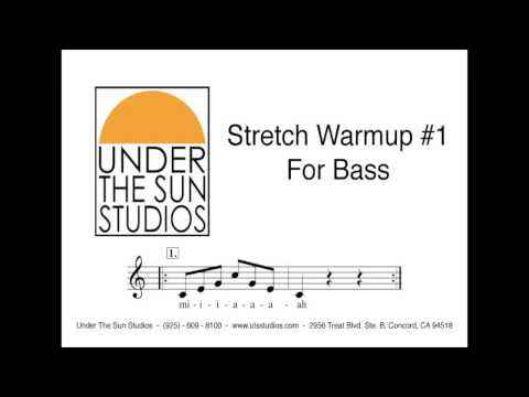 the bass stretch - Vocal Stretch Warmup #1 for Bass.